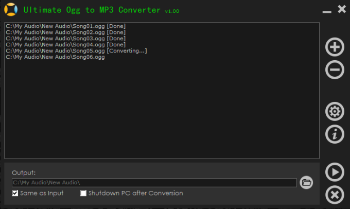 Ultimate Ogg to MP3 Converter