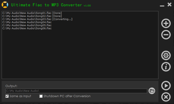 Ultimate Flac to MP3 Converter