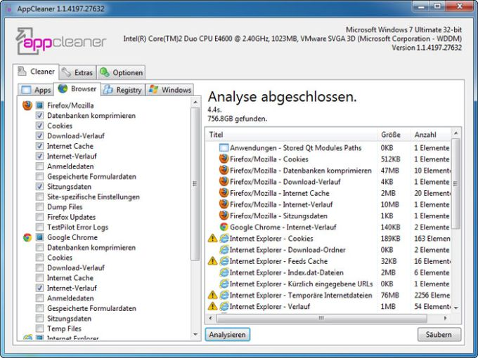 UpdateStar AppCleaner