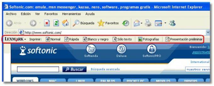 Lexmark Toolbar