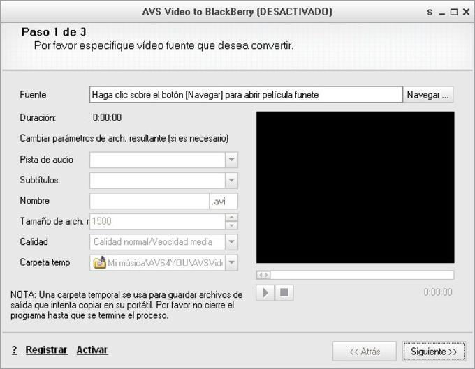 AVS Video to BlackBerry