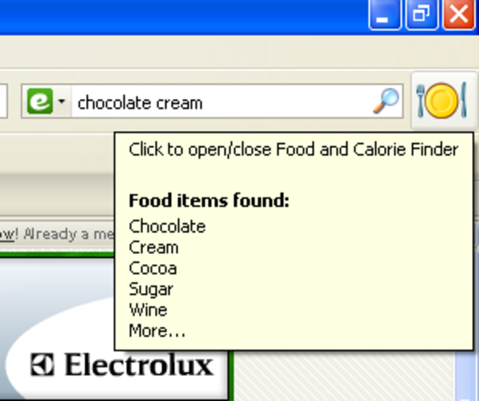 Food and Calorie Finder