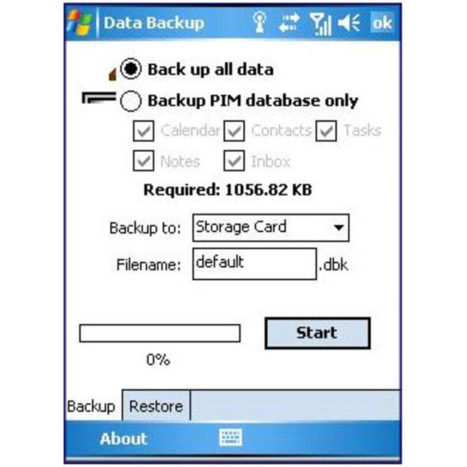 HTC Data Backup