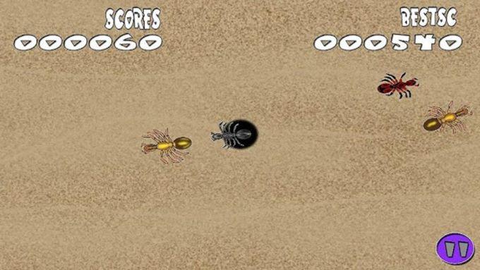 Aplasta hormigas asustadas