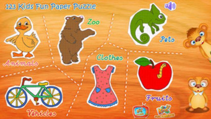 123 Kids Fun PAPER PUZZLE (Free App) - Preschool and kindergarten learning games