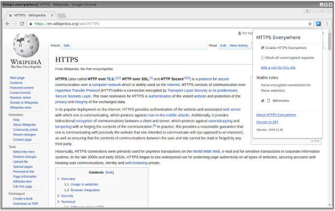 HTTPS Everywhere for Chrome