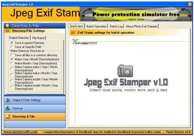 Jpeg Exif Stamper