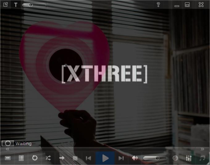 Xthree: Windows Media Player Skin