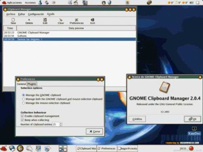 GNOME Clipboard Manager (GCM)