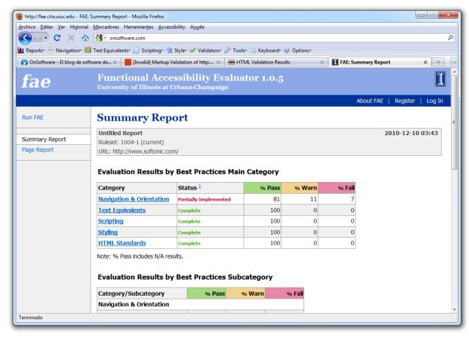 Accessibility Evaluation Toolbar