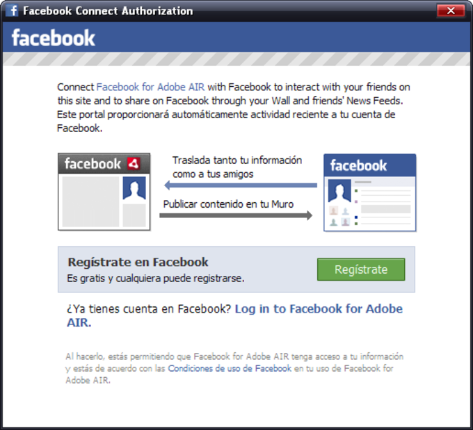 Facebook for Adobe Air