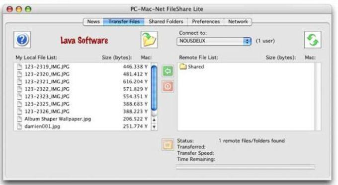 PC-Mac-Net FileShare Lite