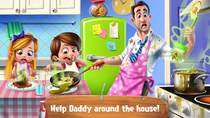 Daddy's Little Helper - Messy Home Adventure