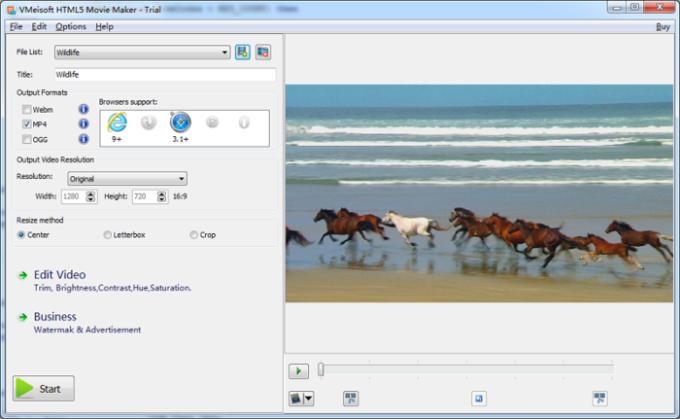 VMeisoft HTML5 Movie Maker