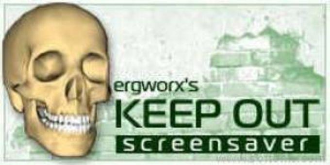 Keep Out screensaver