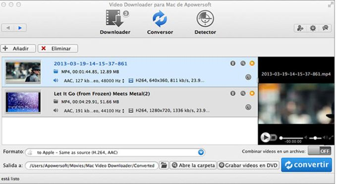 Video Downloader para Mac de Apowersoft