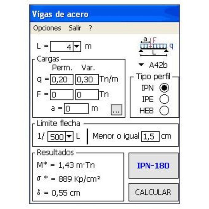 Cálculo de vigas de acero