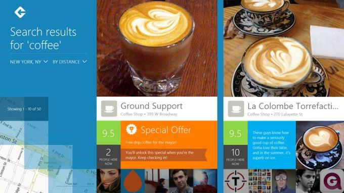 Foursquare per Windows 10