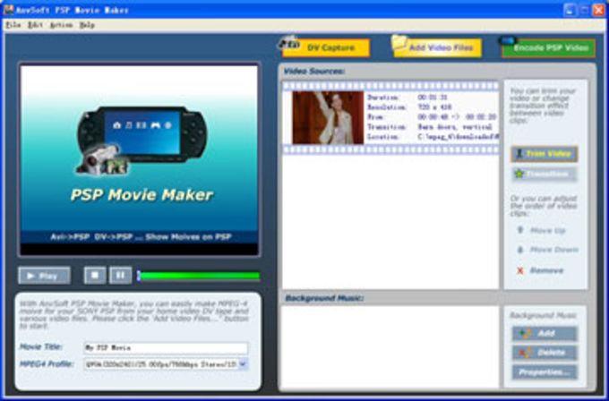 anvsoft psp movie maker download