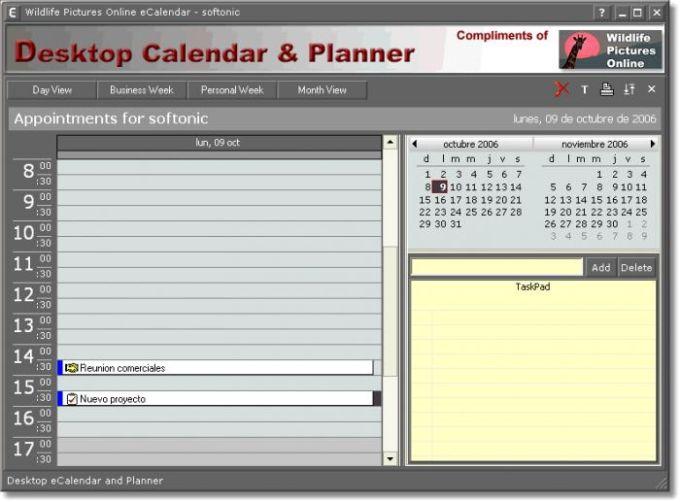 Desktop Calendar & Planner