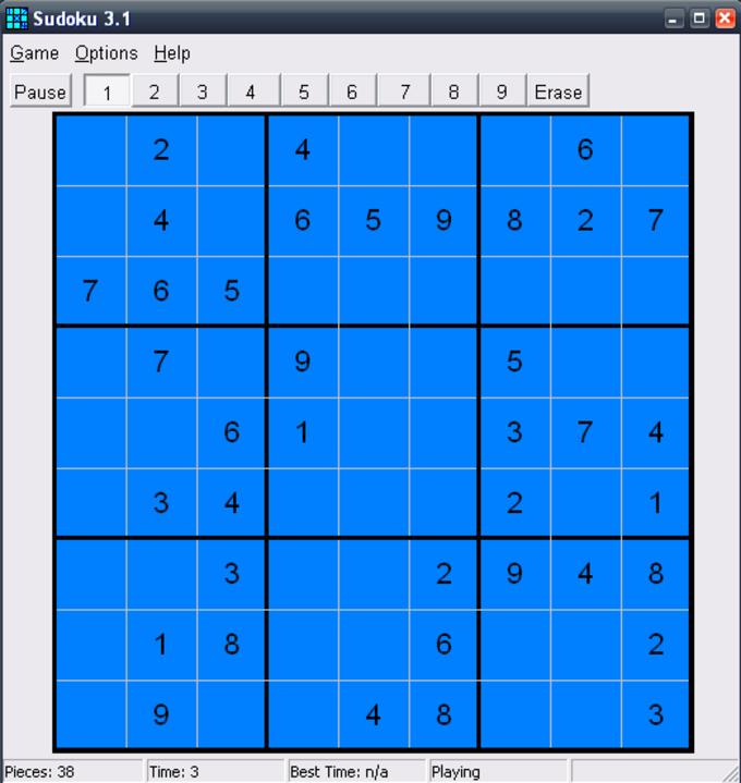 Windows Sudoku Puzzle Game