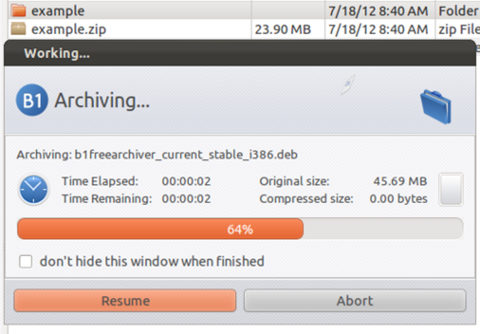 B1 Free Archiver for Linux