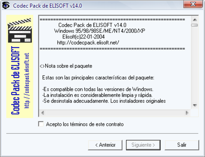 Elisoft Codec Pack