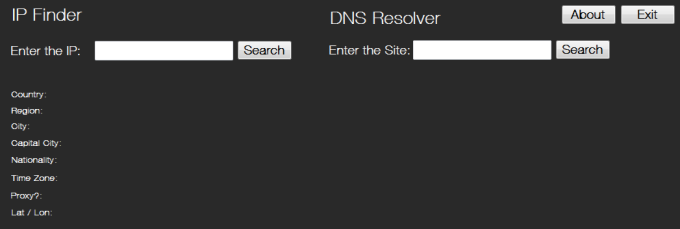 IP Locator and DNS resolver