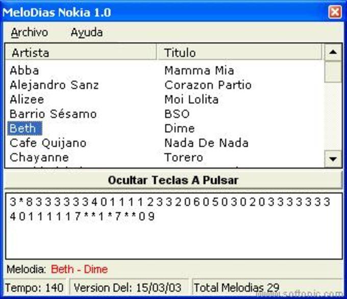 Melodías Nokia