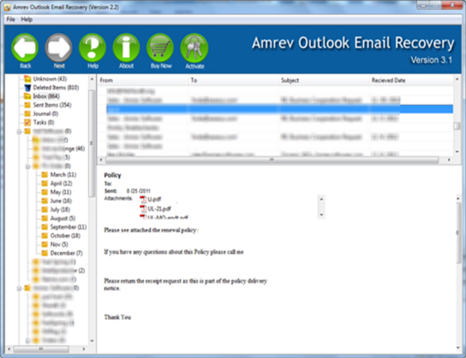 Outlook Email Recovery Software