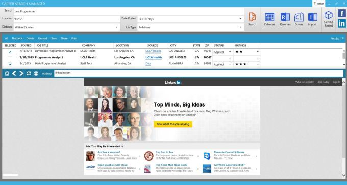 Career Search Manager