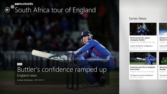 ESPN Cricinfo for Windows 10