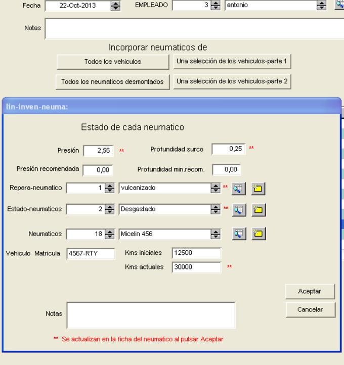 software control de llantas