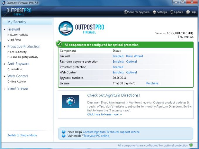 Agnitum Outpost Firewall