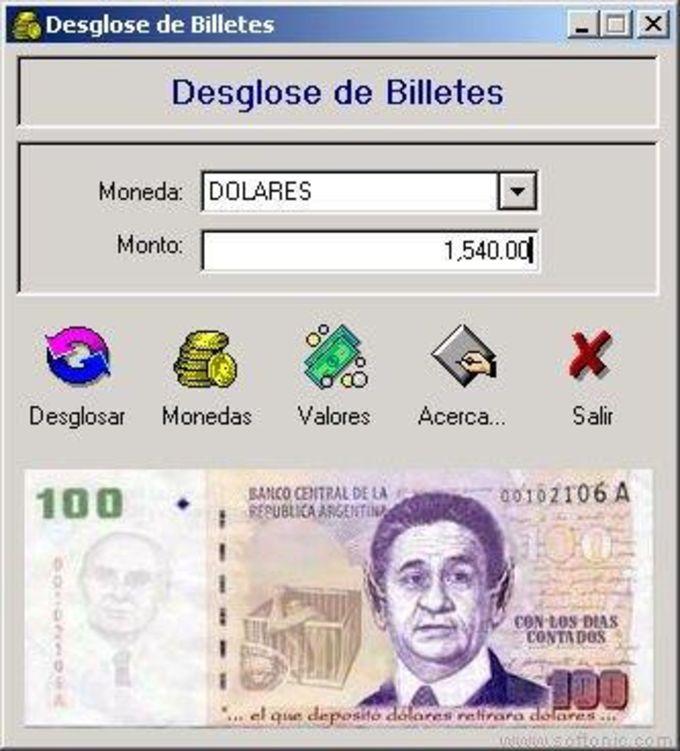 Desglose de Billetes