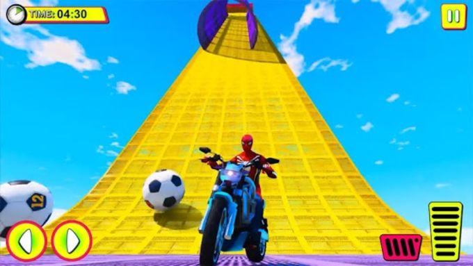 Superhero Tricky bike race kids games
