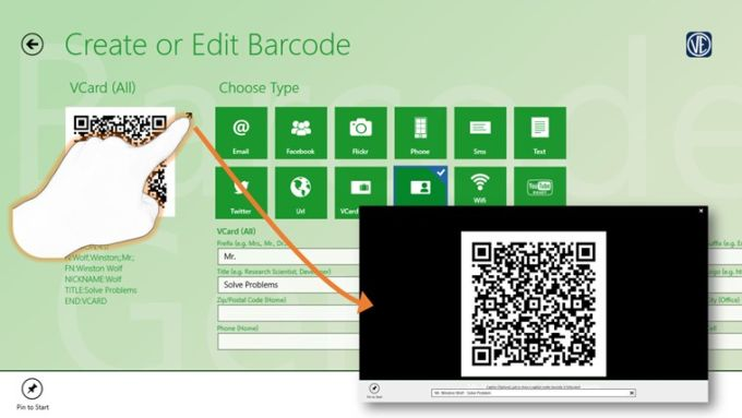 Barcode generator for Windows 10