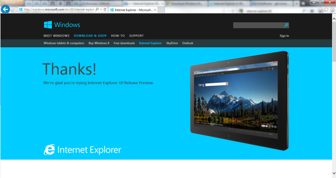 internet explorer 10 free download for windows 7 64 bit