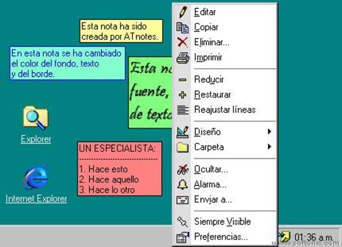 Traductor al español para ATnotes