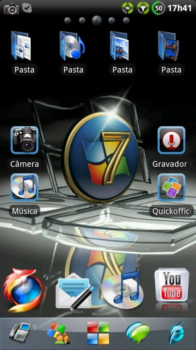 Tema Windows 7 para GO Launcher EX