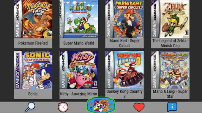 Emulator For NES SNES GBA GBC MAME N64