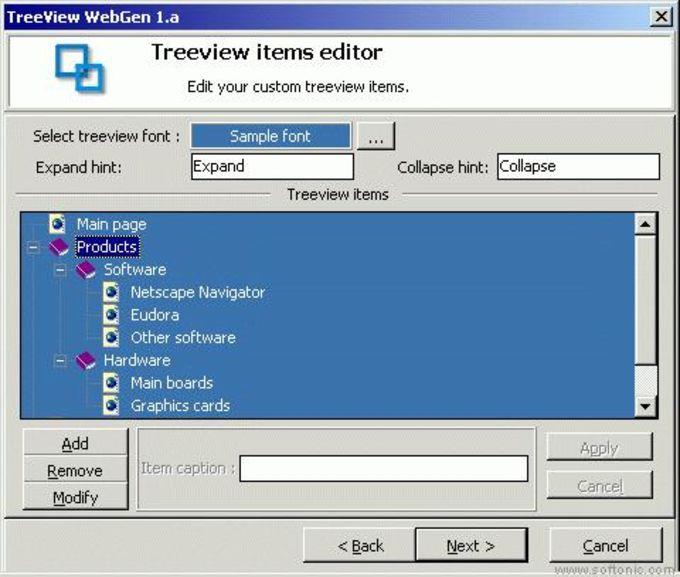 Treeview Webgen