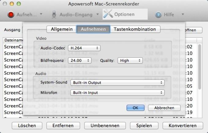 Grabador de Pantalla de Apowersoft para Mac