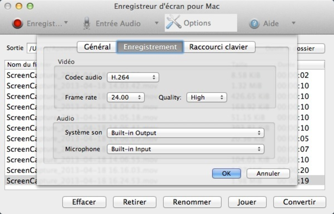 Enregistreur d'écran Apowersoft pour Mac