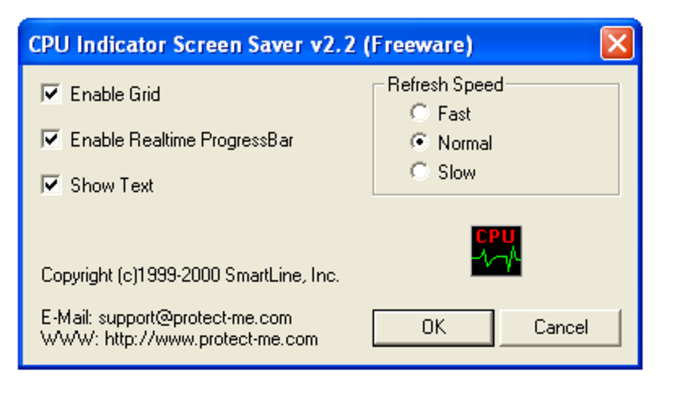 CPU Indicator Screen Saver