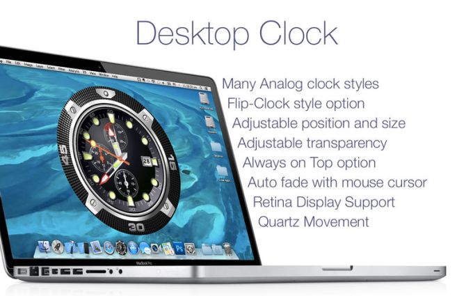 Desktop Clock: Wallpaper Clock & Live Dock Icon