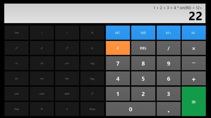 Calculatrice X8 pour Windows 10