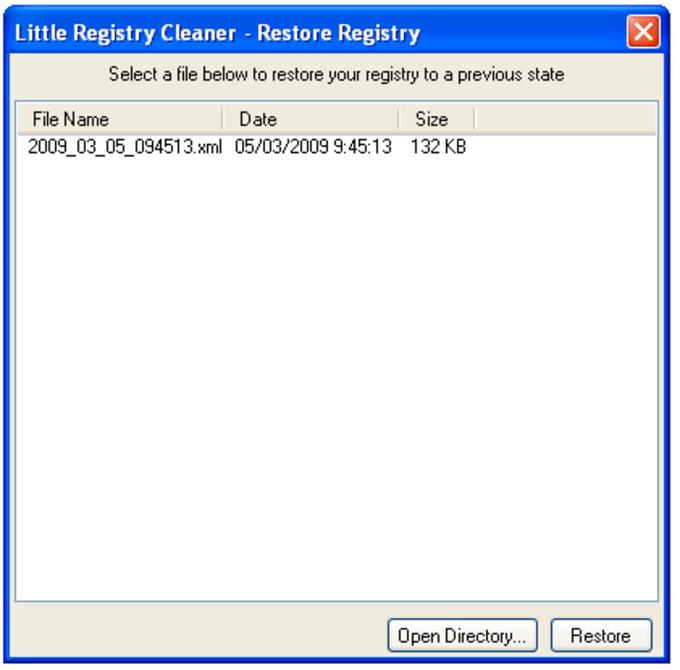 Little Registry Cleaner