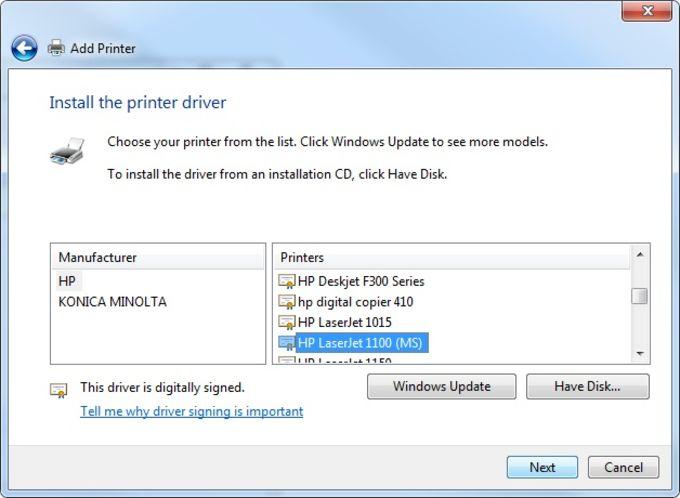 HP LaserJet Pro Printer Mn