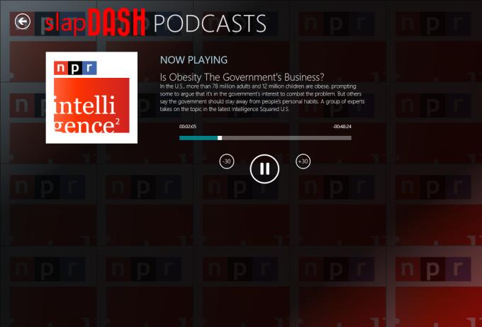 SlapDash Podcasts für Windows 10